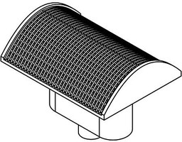 Athearn HO Spark Arrestor, Curved Top (6)