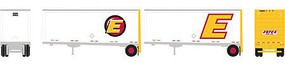 Athearn N 28' Trailers w/Dolly, Estes (2)