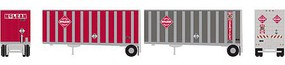 Athearn N RTR 28 Trailer w/Dolly, McLean (2)