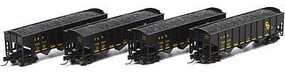 Athearn N 40' 3-Bay Ribbed Hopper w/Load, C&O #1 (4)
