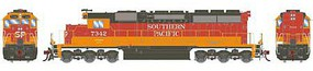 Athearn HO RTR SD40, SP/Daylight Red & Orange #7342