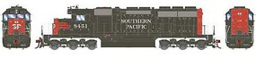 Athearn HO RTR SD40, SP/Red & Grey/SP on Nose #8451