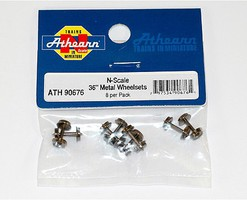 Athearn N 36 Metal Wheel Set (8)