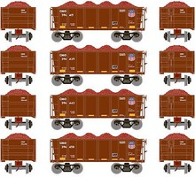 Athearn HO RTR 26 Ore Car Low Side w/Load, UP #2 (4)