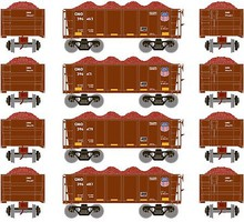 Athearn HO RTR 26 Ore Car Low Side w/Load, UP #3 (4)