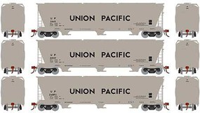 Athearn HO ACF 4600 3-Bay Centerflow Hopper, UP (3)