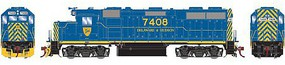 Athearn HO GP39-2 Phase I w/DCC & Sound, D&H #7408