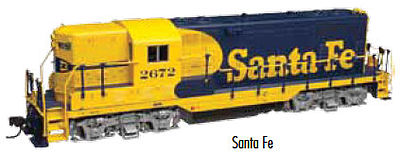 Atlas GP7 DCC/Sound ATSF #2761 -- HO Scale Model Train Diesel Locomotive -- #10002034