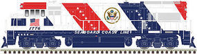 Atlas U36B Seaboard Coast Line Bicentennial #1776 HO Scale Model Train Diesel Locomotive #10002336