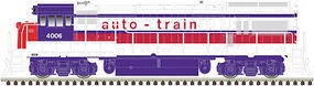 Atlas U36B Auto Train #4010 with sound HO Scale Model Train Diesel Locomotive #10002352