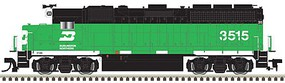 Atlas EMD GP40 Low Nose w/Sound & DCC - Master(R) Gold Burlington Northern #3511 (Cascade Green, black, white)