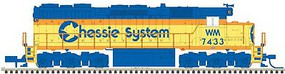 Atlas EMD SD35 Low Nose - LokSound & DCC - Master(R) Gold Chessie System WM 7435 (yellow, blue, vermillion)