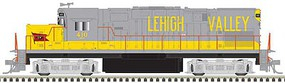 Atlas Alco C420 Phase 1 Low-Nose, Dynamic Brakes - ESU LokSound and DCC - Master G Lehigh Valley 407 (gray, yellow, Flag Logo)