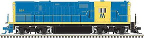 Atlas Alco C420 Phase 2B High-Nose, No Dynamic Brakes - ESU LokSound and DCC - Mas Long Island 223 (As-Delivered, blue, yellow)