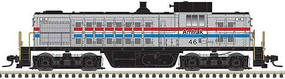 Atlas Alco RS1 - Standard DC - Master(R) Silver Amtrak 47 (Phase III, silver, equal red, white, blue Stripes)