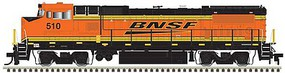 Atlas GE Dash 8-40BW - Standard DC - Master(R) Silver BNSF Railway 510 (orange, black, yellow, Wedge Logo)