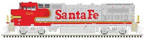 Atlas GE Dash 8-40BW - LokSound and DCC - Master(R) Gold Santa Fe 528 (Warbonnet, silver, red)