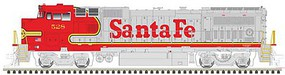 Atlas GE Dash 8-40BW - LokSound and DCC - Master(R) Gold Santa Fe 542 (Warbonnet, silver, red)
