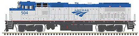 Atlas GE Dash 8-40BWH - LokSound and DCC - Master(R) Gold Amtrak 504 (Phase V, silver, blue, Travelscape Logo)