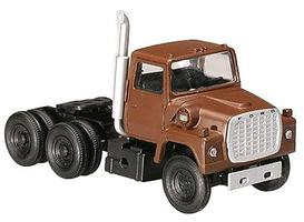 Atlas American Truck 1984 Ford(R) 9000 LNT 3-Axle Conventional Semi Tractor Brown - HO-Scale