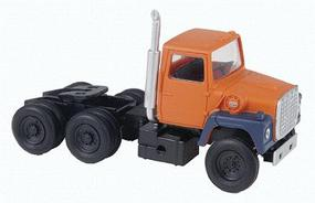 Atlas American Truck 1984 Ford(R) 9000 LNT 3-Axle Conventional Semi Tractor Orange, Blue - HO-Scale