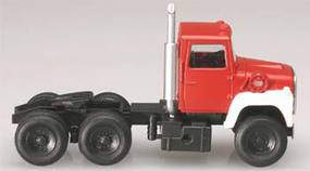 Atlas American Truck 1984 Ford(R) 9000 LNT 3-Axle Conventional Semi Tractor Red, White - HO-Scale