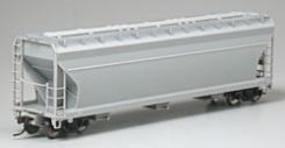 Atlas ACF(R) 4650 3-Bay Centerflow Covered Hopper Undecorated HO Scale Model Train Freight Car #1400