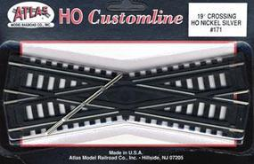 Atlas Code 100 19 Degree Crossing Track 6 CL N/S HO Scale Nickel Silver Model Train Track #171