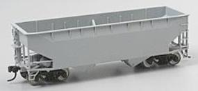 Atlas 50-Ton 2-Bay Offset-Side Open Hopper - Undecorated HO Scale Model Train Freight Car #1850