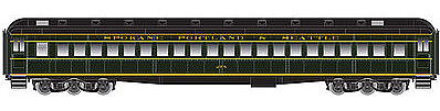 Atlas Heavyweight Single-Window Coach SP&S -- HO Scale Model Train Passenger Car -- #20001708