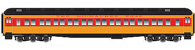 Atlas Heavyweight Paired-Window Coach Milwaukee Road -- HO Scale Model Train Passenger Car -- #20001717