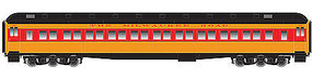 Atlas Heavyweight Paired-Window Coach Milwaukee Road HO Scale Model Train Passenger Car #20001717