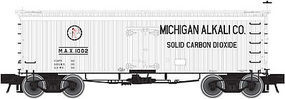 36' Wood Reefer Michigan Alkali Company HO Scale Model Train Freight Car #20002707