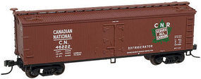 Atlas 40 Wood Reefer Canadian National #46257 HO Scale Model Train Freight Car #20002716