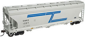 Atlas 4650 3-Bay Centerflow Covered Hopper Solvay HO Scale Model Train Freight Car #20002854