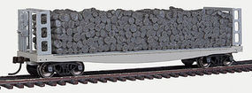 Atlas Pulpwood Flat Open Undecorated HO Scale Model Train Freight Car #20002869