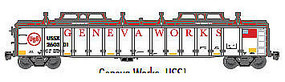 Atlas Gondola with Cover Geneva #260301 HO Scale Model Train Freight Car #20003257