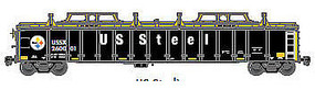 Atlas Gondola with Cover USSX #260111 HO Scale Model Train Freight Car #20003268