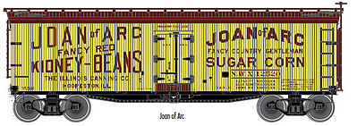 Atlas 40' Wood Reefer Joan #12520 -- HO Scale Model Train Freight Car -- #20003297
