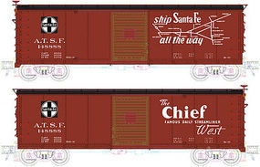 Atlas USRA Steel Boxcar ATSF #148888 HO Scale Model Train Freight Car #20003373