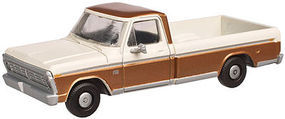 Atlas F-100 Pickup Brown/White HO Scale Model Railroad Vehicle #20003754