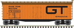 Atlas 40 Wood Reefer Grand Trunk Western #206924 HO Scale Model Train Freight Car #20003807