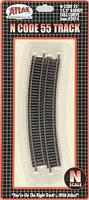 Atlas Code 55 12-1/2 Radius Full Curve NS (6) N Scale Nickel Silver Model Train Track #2014