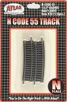 Atlas Code 55 Track 12-1/2 Radius Half Curve N Scale Nickel Silver Model Train Track #2015