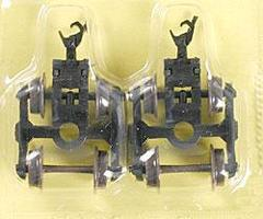 Atlas Friction Bearing Trucks w/AccuMate Couplers (2) N Scale Model Train Parts #22051