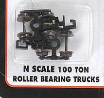 Atlas (bulk of 12) 100-Ton Roller Bearing Trucks w/Rapido Couplers N Scale Model Train Parts #22070