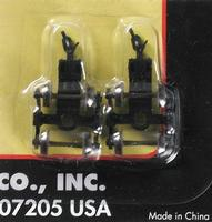 Atlas (bulk of 12) 70T Roller Bearing Trucks w/A-M Couplers (2) N Scale Model Train Parts #22081