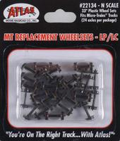 Atlas Plastic 33 Low Profile Replacement Wheelsets N Scale Model Train Trucks #22134
