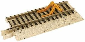 Atlas True-Track Roadbed 2 Straight w/Bumper Yel (2) N Scale Nickel Silver Model Train Track #2425