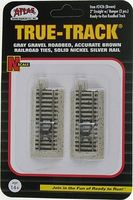 Atlas True-Track Roadbed 2 Straight w/Bumper Brn (2) N Scale Nickel Silver Model Train Track #2426